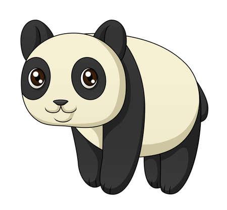 An illustration depicting a cute cartoon panda standing Stock Vector - 18263577
