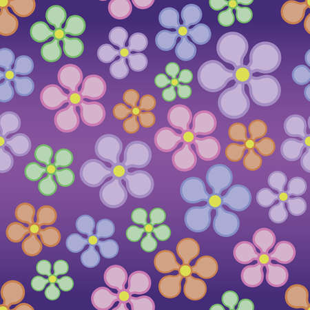 A seamlessly repeatable retro flower background  Vector