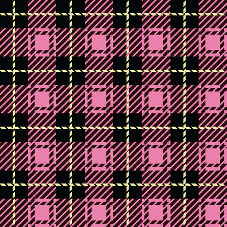 flannel: A seamlessly repeatable pink plaid pattern