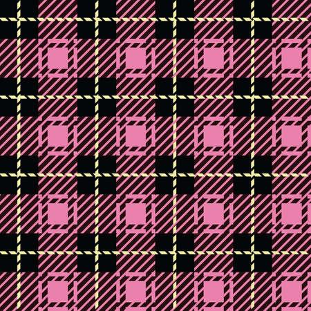 franela: Un modelo pink plaid perfectamente repetible