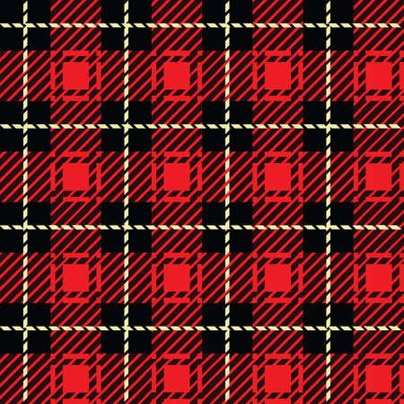 Een naadloos herhaalbare rode plaid patroon
