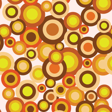 A trendy seamless retro bubble background  Vector