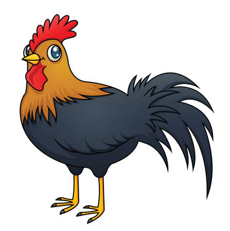 An illustration of a cartoon rooster Stock Vector - 18263619