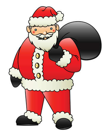 santa clause: A cute cartoon santa clause vector drawing
