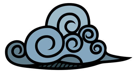 evaporate: A stylized abstract cloud graphic