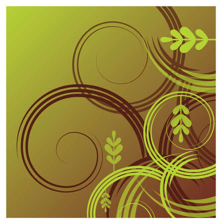 outward: A foliage themed abstract background  Illustration