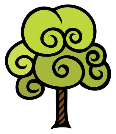 sturdy: A stylized abstract tree graphic