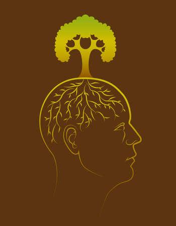 think green: Piensa en verde ilustraci�n conceptual