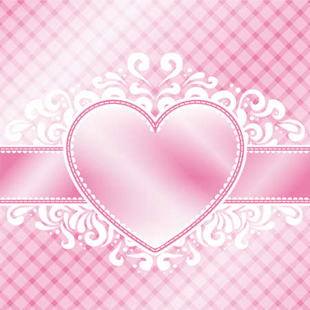 A soft pink Valentine s day themed illustration  Vettoriali