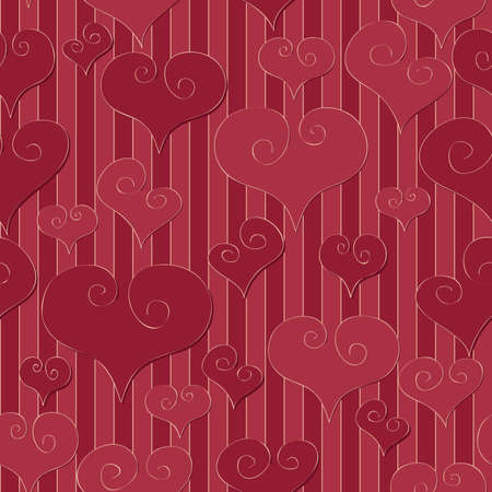 A simple retro seamlessly repeatable valentine s day background  Stock Vector - 18263553