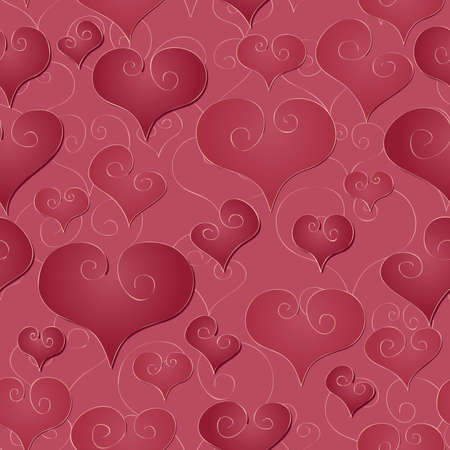 A simple retro seamlessly repeatable valentine s day background  Stock Vector - 18263578