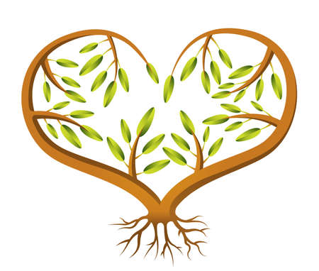 A heart shaped sapling illustration Stock Vector - 18263626
