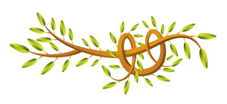 An abstract branch illustration  Vector