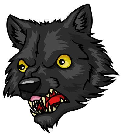 A very cartoon halloween werewolf head or mask Stock Vector - 18263563