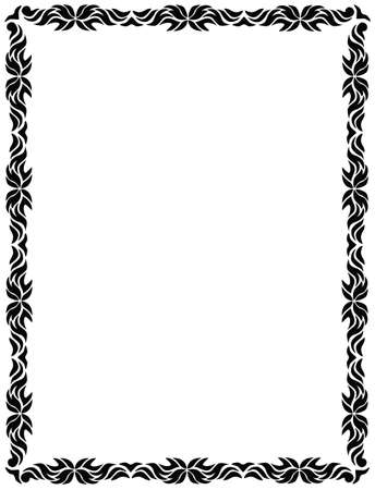 An abstract border that could be used for a stationary, invitation etc  Illusztráció
