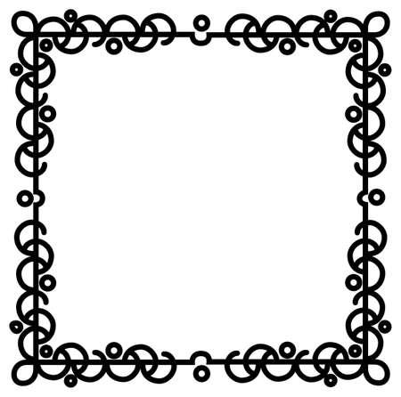 Een bruisende abstracte zwarte rand in vierkant formaat Stock Illustratie