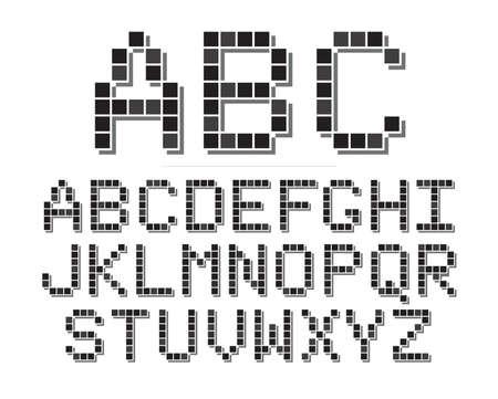 An 8 bit or pixel themed font set. Çizim