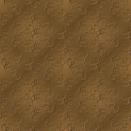 taper: An elegant abstract sepia background depicting swirl designs with a bevel and drop shadow. Seamlessly repeatable.