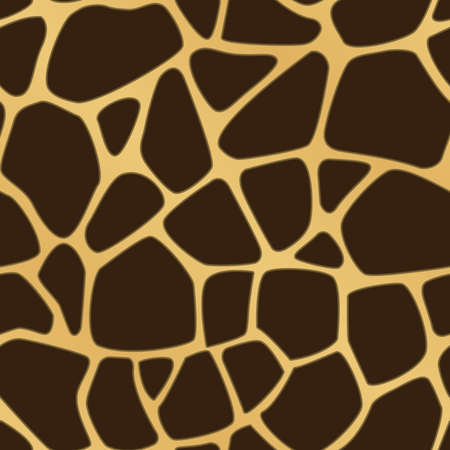 A brown and yellow giraffe spotted background  Seamlessly repeatable  Vector