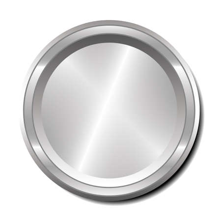 Illustration of a single metallic button with room for text or an icon. Stock Vector - 18905484