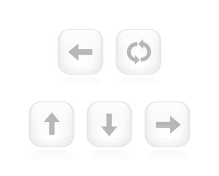A collection of 5 minimalistic arrow buttons  Vector