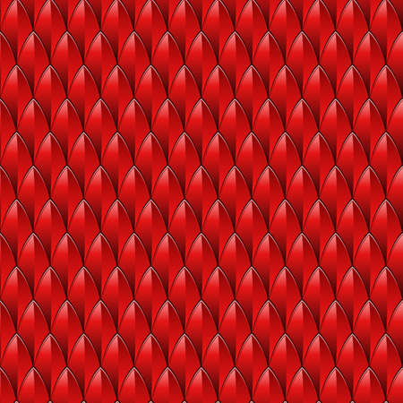 A red dragon scale textured background  Vector