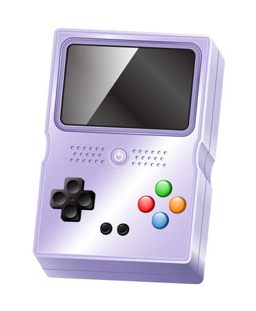 handheld device: Illustration of a glossy portable handheld gaming device.