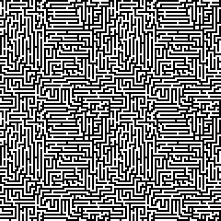 Black and white maze pattern  Seamlessly repeatable