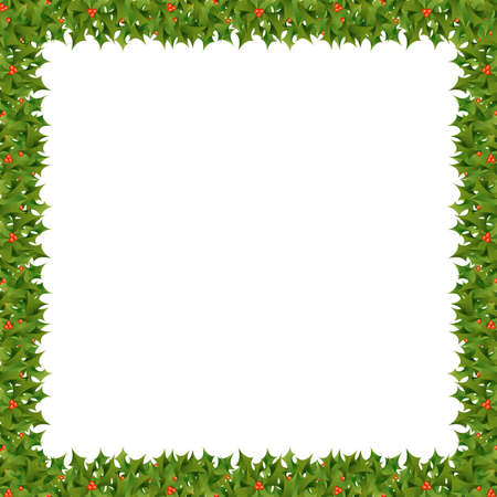 A square Christmas themed border