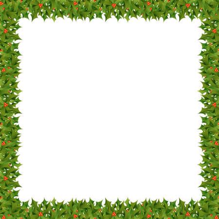 A square Christmas themed border Reklamní fotografie - 24505208