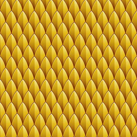 Fondo Una piel de reptil de color amarillo con textura inconsútil repetible