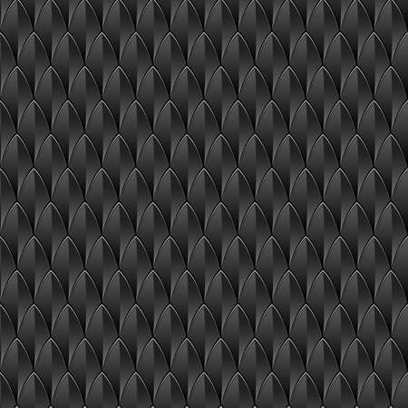 A black reptile skin textured background  Seamlessly Repeatable  Vector