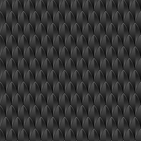 escamas de peces: Un fondo negro con textura de piel de reptil inconsútil repetible