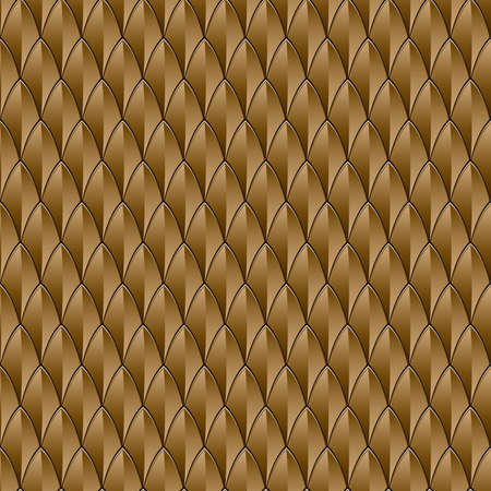 fish scales: A bronze reptile skin textured background  Seamlessly Repeatable