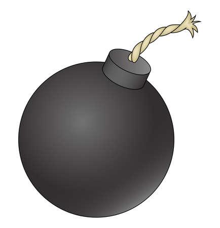 Illustration depicting a cartoon bomb