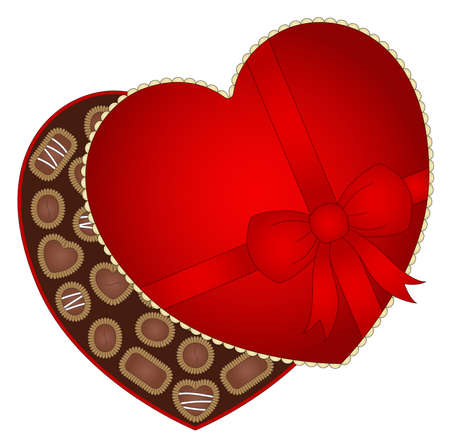 chocolate box: Illustration of a box of valentine s day chocolate