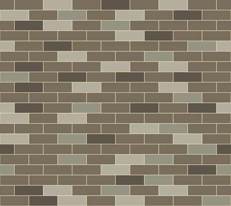 Een eenvoudige grijze bakstenen muur patroon Naadloos herhaalbare