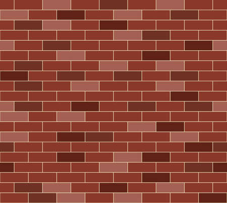 brick and mortar: A simple red brick wall pattern  Seamlessly repeatable