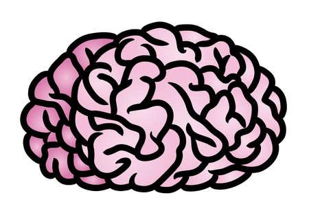 concussion: Cartoon illustration of a human brain