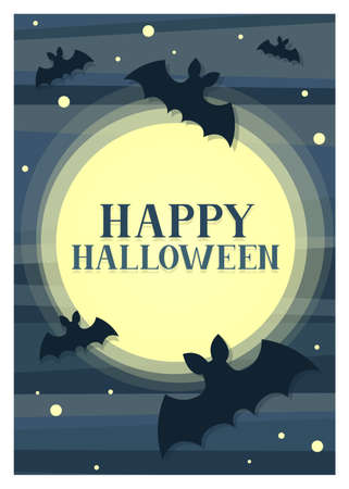 An abstract paper-cutout style halloween card design