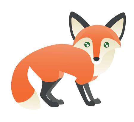 An Abstract fox standing.