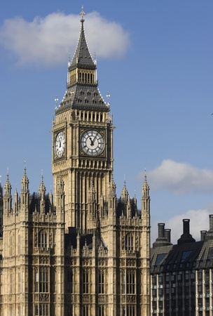 typically english: Big Ben Stock Photo