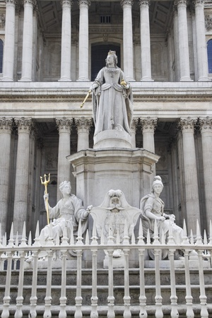 Queen Victoria monument near St Paul`s  Cathedral photo