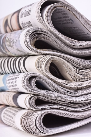 daily newspaper: Pack of newspapers
