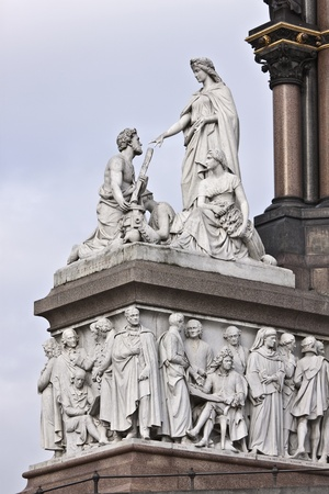 Fragment of Prince Albert monument photo
