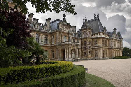 english garden: Waddesdon Manor. Palace