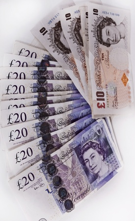 British pounds. Notes  photo