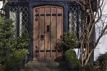 Enter to Georgian house in England photo