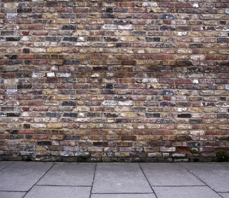 wall street: Old brick wall