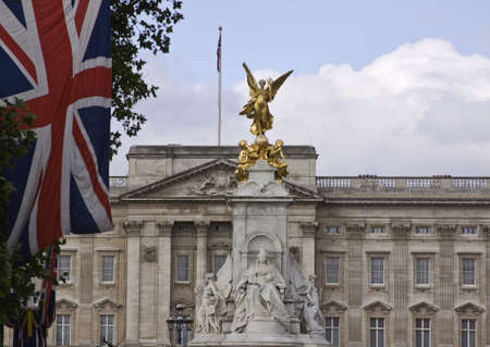 typically english: Buckingham Palace  in London